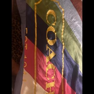 Coach legacy stripe silk scarf